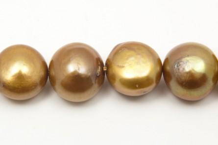 Irregular Potato Freshwater Pearls, Light Brown, A Grade