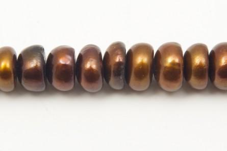 Button Freshwater Pearls - Brown / Bronze ( Dark )- A Grade