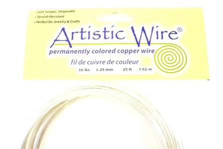Tarnish Resistant Silver Artistic Wire (16 Gauge)