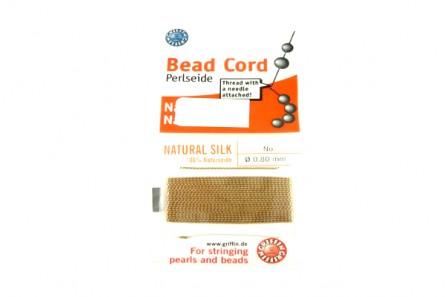 Griffin Beige Silk Bead Cord
