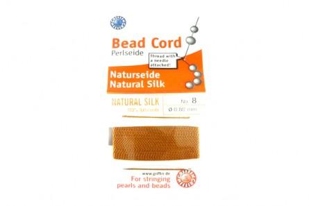 Griffin Copper Carnelian Silk Bead Cord
