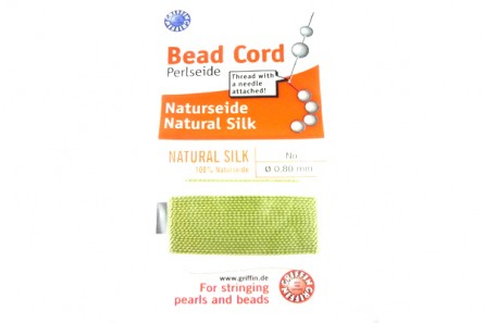 Griffin Light Green Jade Silk Bead Cord