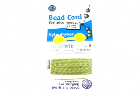 Griffin Light Green jade Nylon Bead Cord