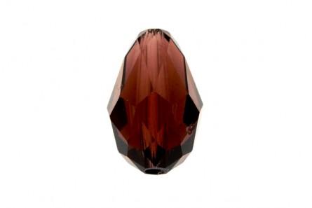 Burgundy Swarovski Crystal Faceted Teardrop Beads 5500