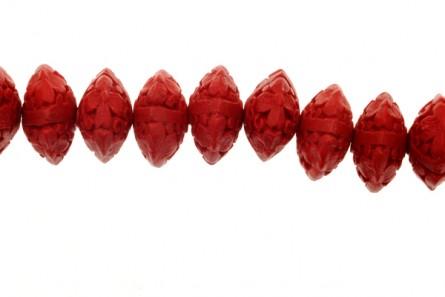 Red Cinnabar ( Imitation ) Abacus Beads - CR-05