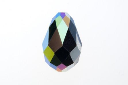 Bead, Jet AB,Swarovski Crystals, Faceted Crystal Teardrop (5500).