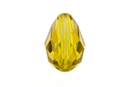 Bead, Lime AB,Swarovski Crystals, Faceted Crystal Teardrop (5500).