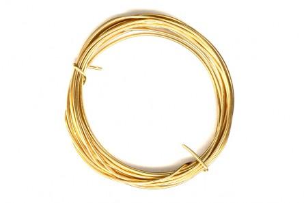 14K Gold Filled Wire - 18 Gauge (Half Round)