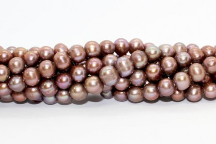Bronze/Brown/Green Peacock Peacock (Dyed) Potato Freshwater Pearl Beads