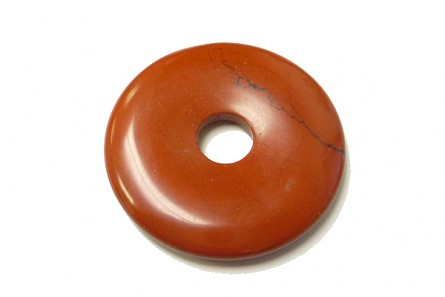 Red Jasper( Natural ) A Grade Donut Gemstone Pendant