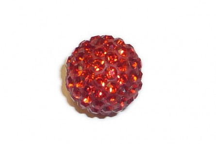 Red , Bright Chinese Crystal Pave Round Bead