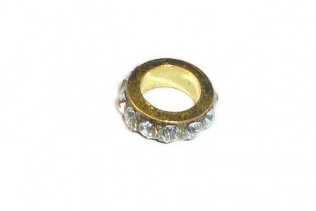 Gold Plate Crystal Chinese Crystal Rhinestone Ring