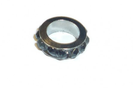 Gunmetal Jet Chinese Crystal Rhinestone Ring