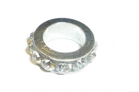 Clear Silver Plate Chinese Crystal Rhinestone Ring