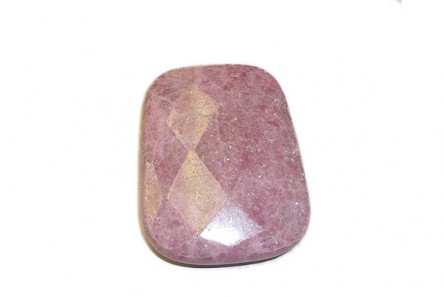 Rhodonite, Natural, A Grade, Faceted, Side Drilled, Rectangle,Gemstone Pendant