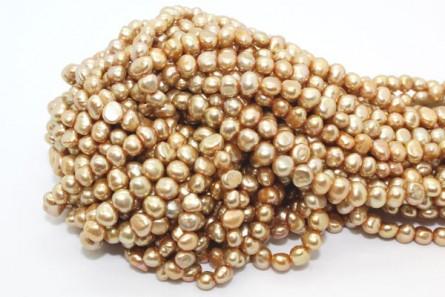Irregular Potato Freshwater Pearls - Beige/Sand , 6mm
