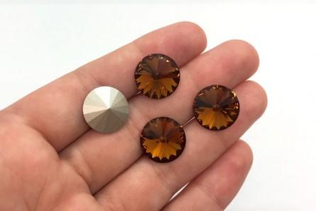 350634741 Smoked Topaz 1122 Swarovski Elements Crystal Rivoli Stone | JBCBeads.com