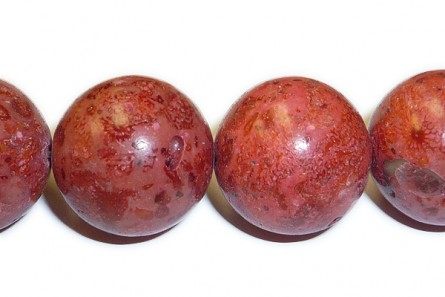Sponge, Apple Coral, Dyed,Coated, Round Beads