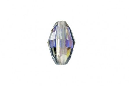 Bead,Black Diamond AB,  Swarovski crystal,9x6mm faceted oval Barrel (5200).
