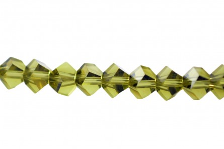 Bead,  Swarovski® crystals, Khaki , 4.5mm, faceted simplicity (5310).