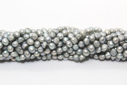 Irregular Potato Freshwater Pearls - Teal