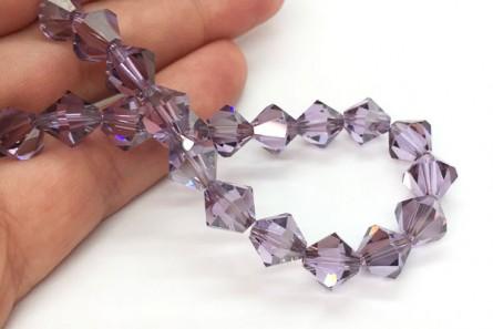 Violet Satin Swarovski Crystal Bicone Beads 5301 4mm - Sale