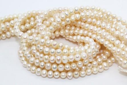 Freshwater Pearls, Potato,A Grade, 5-5.5mm, White