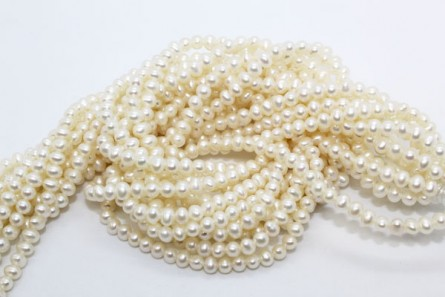 Freshwater Pearls, Potato,A Grade, 3.5mm-4mm, White