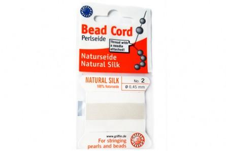 Griffin White Silk Bead Cord
