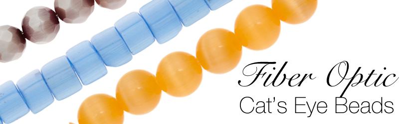 Fiber Optic Cat's Eye Glass Beads Banner