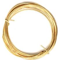 BENECREAT 18 Gauge 16.5 Feet Half Round Copper Wire 3mm Wide Yellow Brass Wire for Jewelry Beading Craft Work