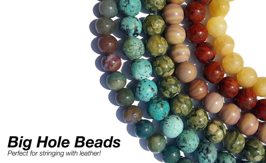 Shop big hole round gemstone beads!