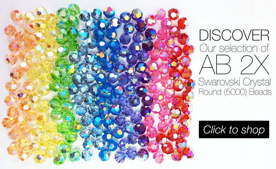 Shop Swarovski Crystal Round (5000) Beads in AB 2X