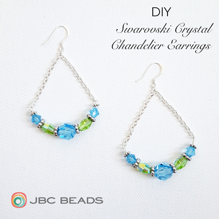 Diy Chandelier Earrings Featuring Swarovski Elements Crystal